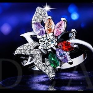 Princess Kylie 925 Sterling Silver Eden Butterfly Style Ring